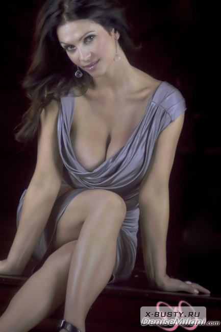 Denise Milani - Silver Dress