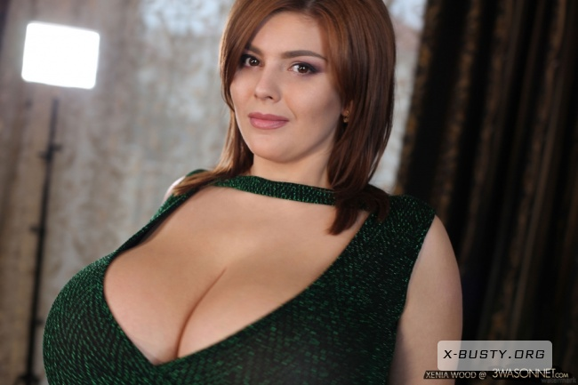 Xenia Wood - Bare Breasts In Green Dress